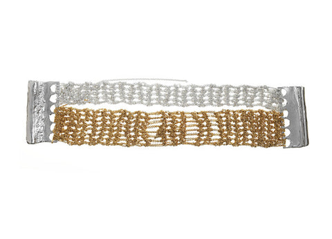 - Split Band Bracelet - Silver+Gold -