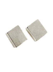 Squared Earrings in Silver