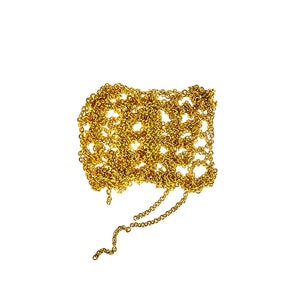 Baby Tee Bracelet in Gold w/Silver Twist Toggle