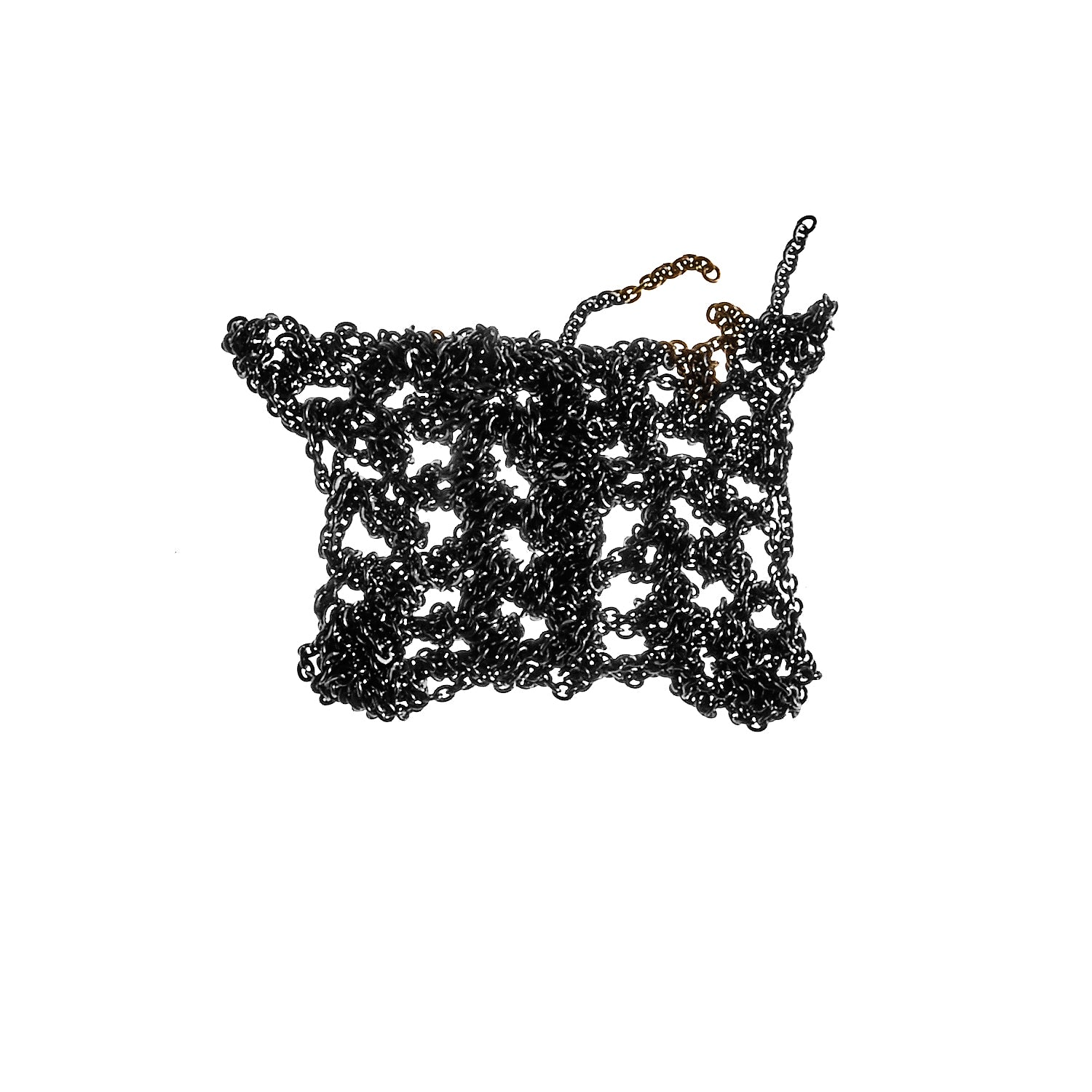 Melded Simple Necklace in Burnt Gold + Midnight