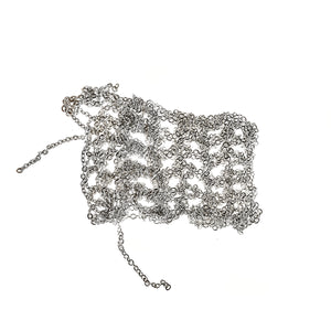 Hairy Simple Necklace in Silver