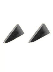 - Triangle Shard Earrings - Charcoal -