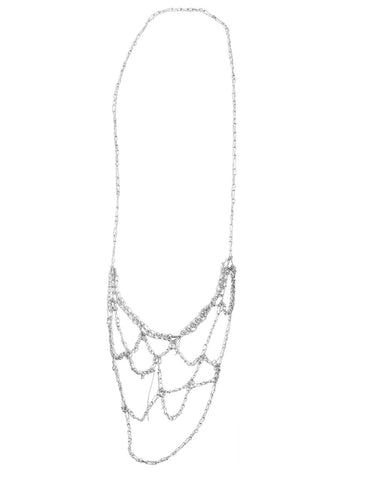 - Web Necklace - Silver -