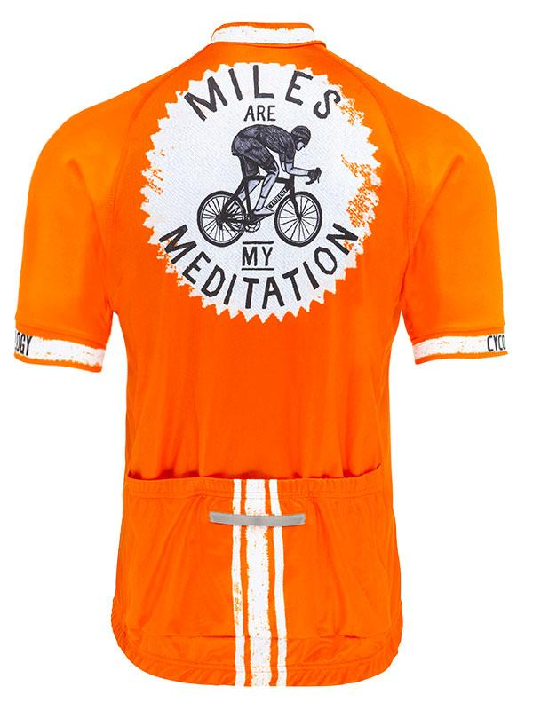 Fietsshirt heren Miles are my Meditation RF