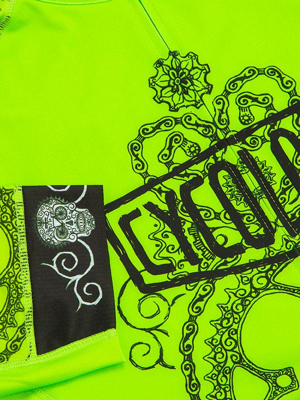 Fietsshirt dames Day of the Living (Lime)