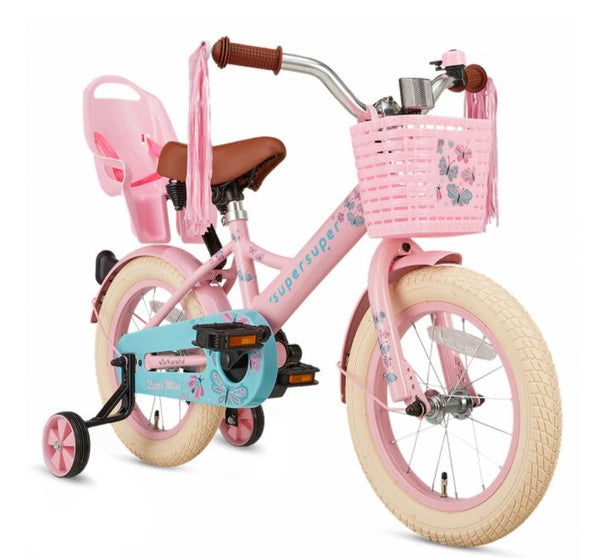 Kinderfiets Little Miss 14 inch Roze