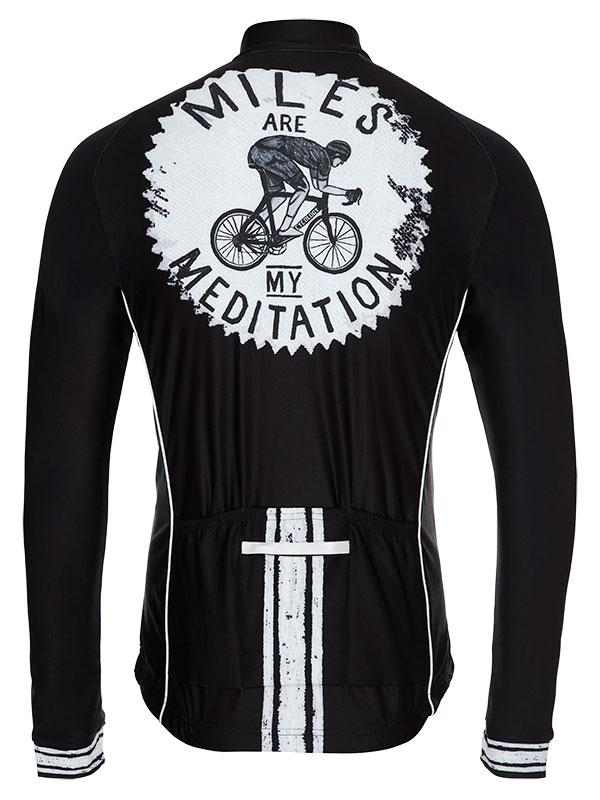 Fietsshirt Heren Lange Mouw Miles are my Meditation