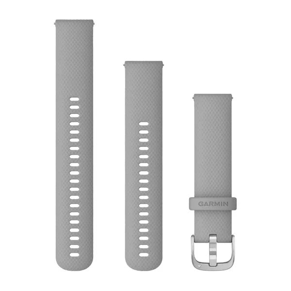 Garmin Quick Release Siliconen band - 18 mm - Powder Grey zilveren gesp