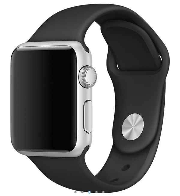 Apple siliconen band zwart