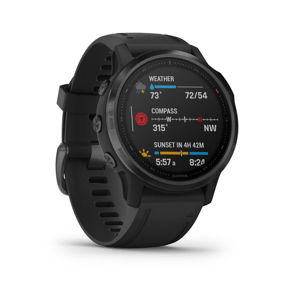 Garmin fenix 6S PRO Rose Gold Witte Siliconen Band