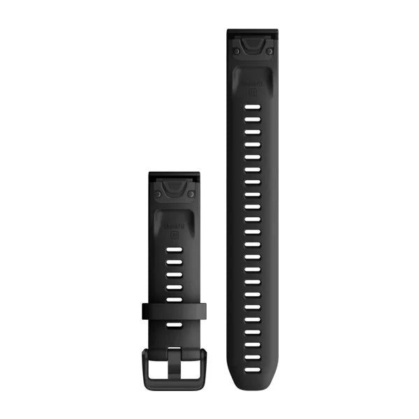 Garmin Quickfit horlogeband - Siliconen - 20 mm - Black Large