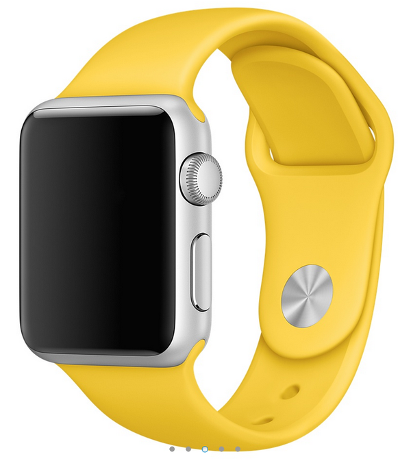 Apple siliconen band geel