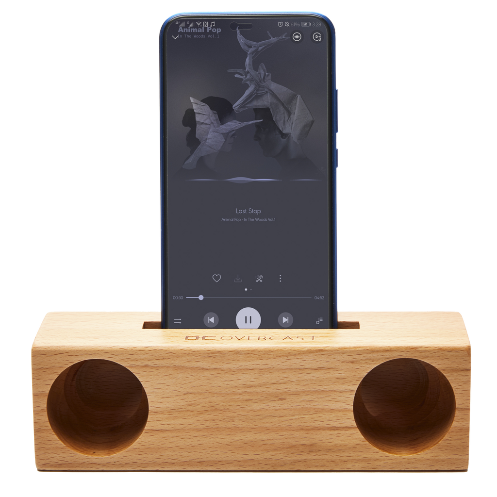 WOOD SPEAKER & PHONE HOLDER