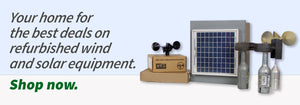 Your home for the best deals on refurbished wind and solar equipment.