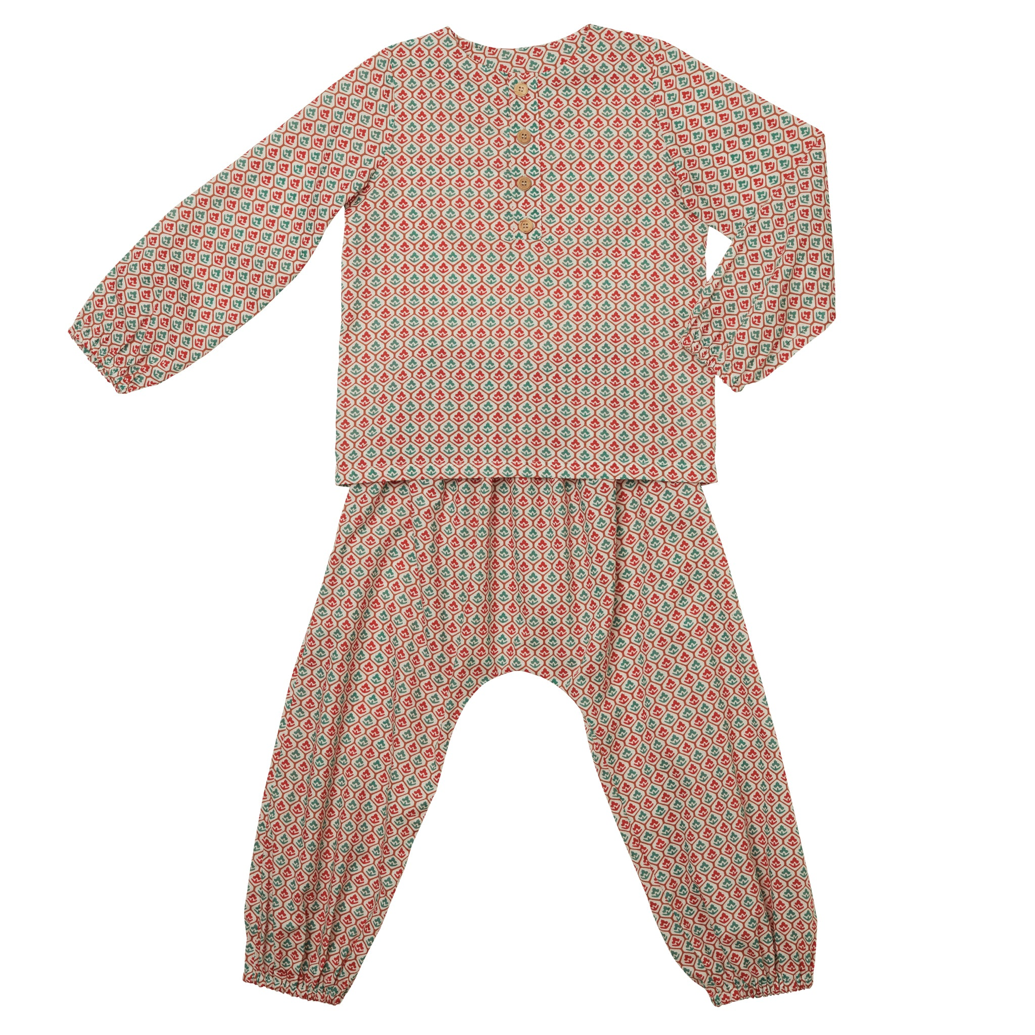 Pyjama CES Geometric Red