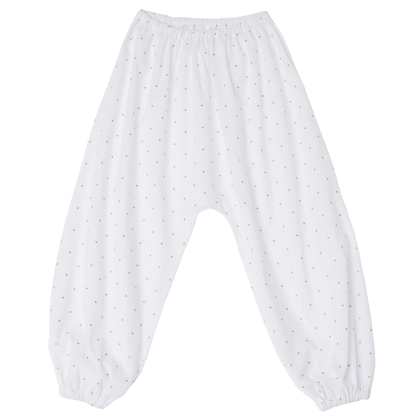 Pants Harem White polka-dots