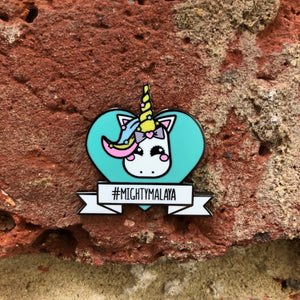 #MIGHTYMALAYA Hard Enamel Unicorn Charity Pin - foursandeights