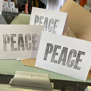 PEACE DAY – LETTERPRESS CARD (STUDIO COLLECTION ONLY)