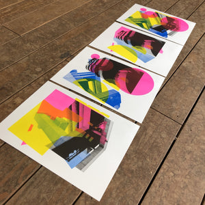 Tricorn (Super) Limited Edition Set of 4 Risograph Prints - foursandeights