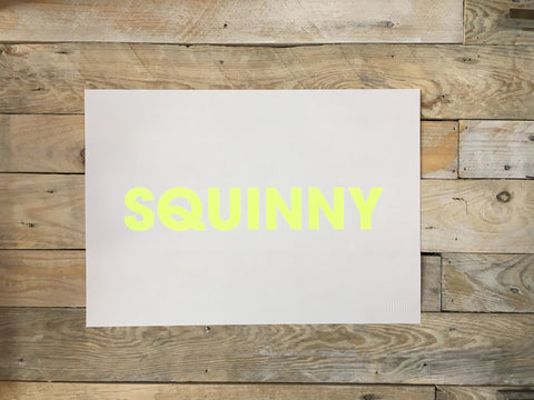 A3 SQUINNY RISO PRINT - POMPEY TYPE SERIES - foursandeights