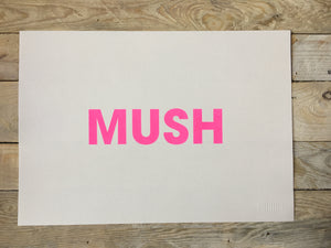 A3 MUSH RISO PRINT - POMPEY TYPE SERIES - foursandeights