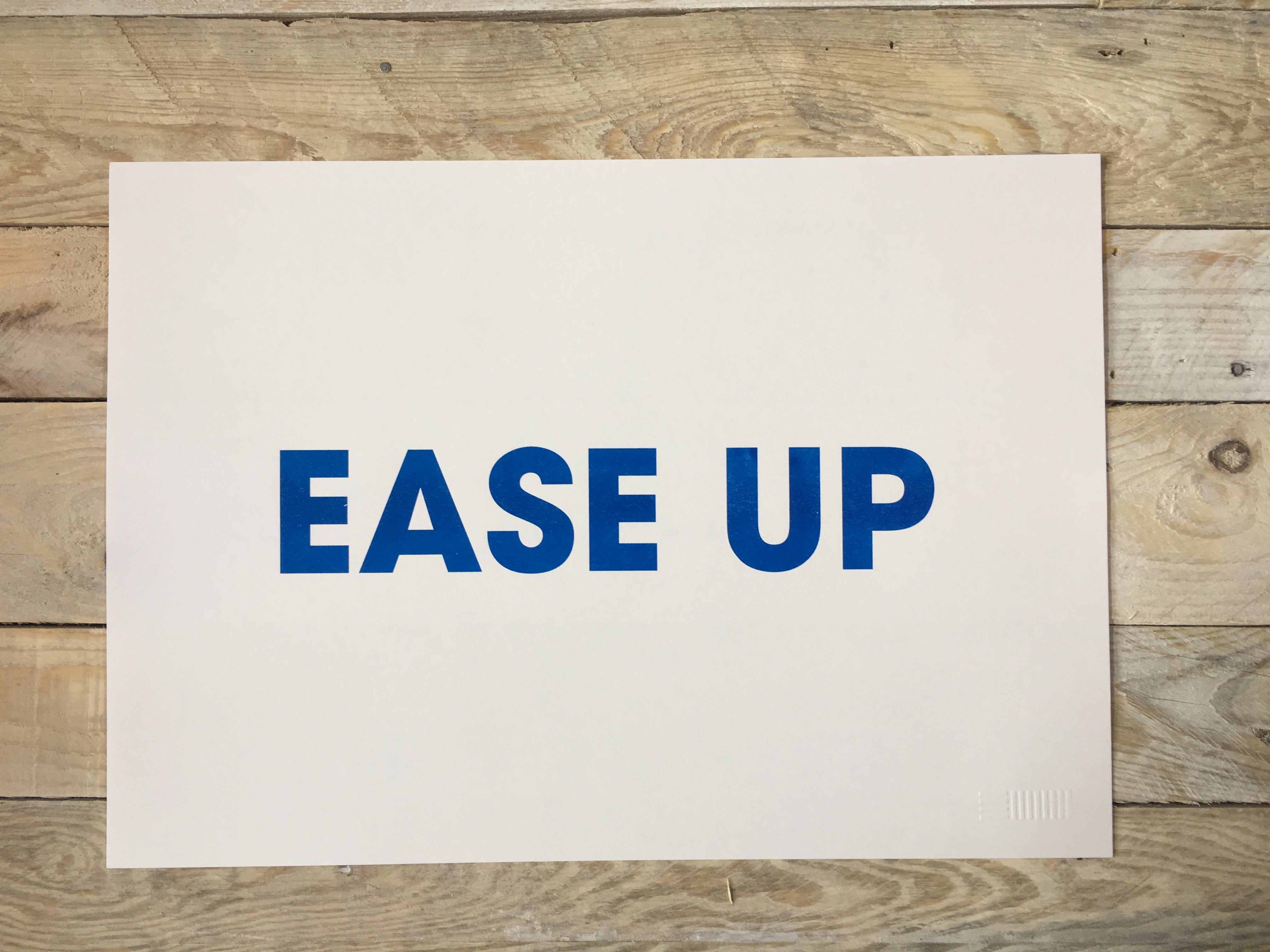 A3 EASE UP RISO PRINT - POMPEY TYPE SERIES - foursandeights