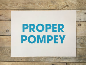 A3 PROPER POMPEY RISO PRINT - POMPEY TYPE SERIES - foursandeights
