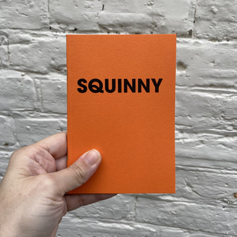 SQUINNY – POMPEY TYPE SERIES - A6 COLORPLAN TANGERINE NOTEBOOK
