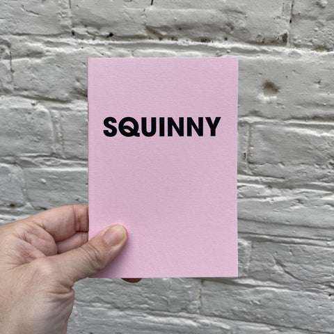 SQUINNY – POMPEY TYPE SERIES - A6 COLORPLAN PASTEL PINK NOTEBOOK