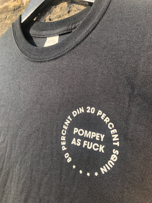 80% DIN 20% SQUIN POMPEY AS FUCK Adult Tee – Pompey Type Series - foursandeights