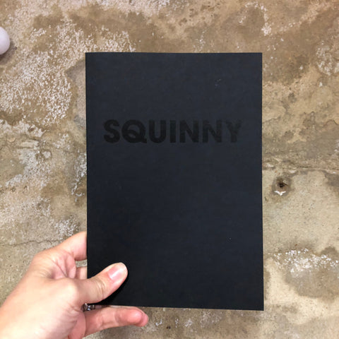 SQUINNY – POMPEY TYPE SERIES - A5 BLACK ON BLACK COLORPLAN NOTEBOOK - foursandeights
