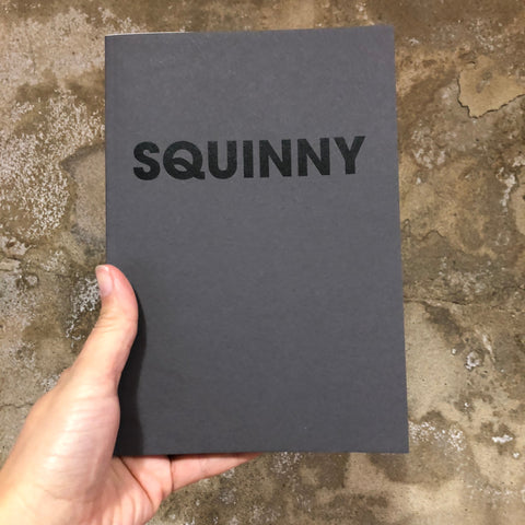 SQUINNY – POMPEY TYPE SERIES - A5 GREY COLORPLAN NOTEBOOK - foursandeights