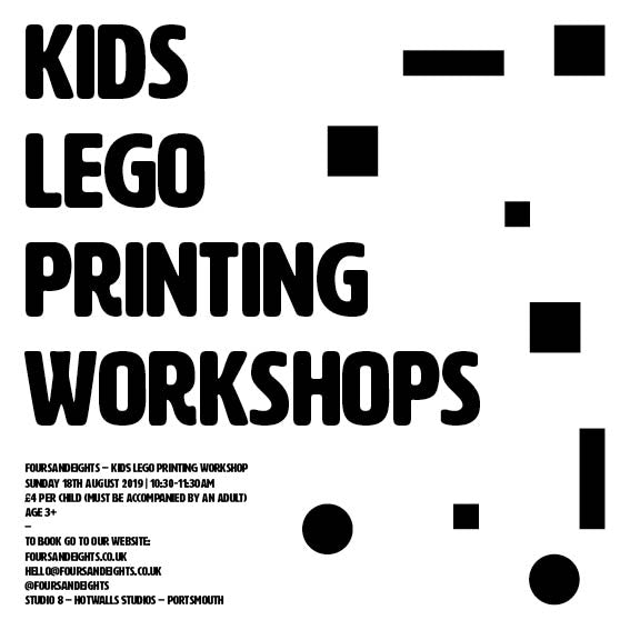 Kids Lego Printing Workshop Age 8+ (15/09/2019 – 13:30-14:15) - foursandeights