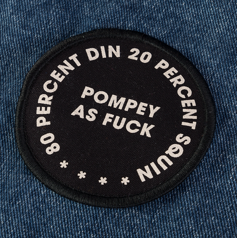 POMPEY TYPE SERIES - DIN SQUIN – CLOTH IRON/SEW ON PATCH – LIMITED - foursandeights
