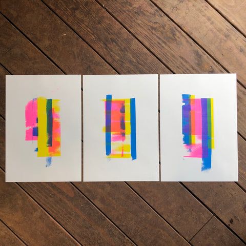 ROLLER RISO TRIPTYCH (A3 X 3)