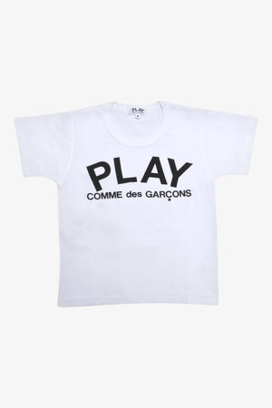Selectshop FRAME - COMME DES GARCONS PLAY Black Logo T-shirt Kids Dubai