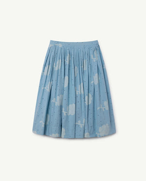 Jellyfish Kids Skirt Blue Flower