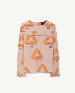 Selectshop FRAME - THE ANIMAL OBSERVATORY Gadfly Shirt Rose Triangles Kids Dubai