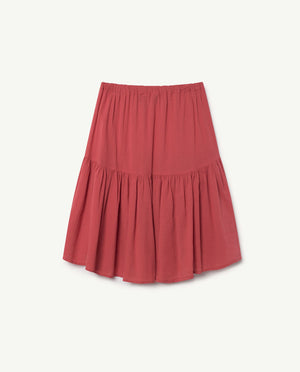 Bird Skirt Red