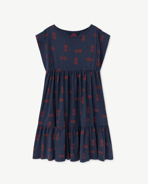Robin Dress Blue Circles