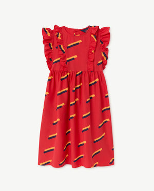 Otter Dress Red 80's