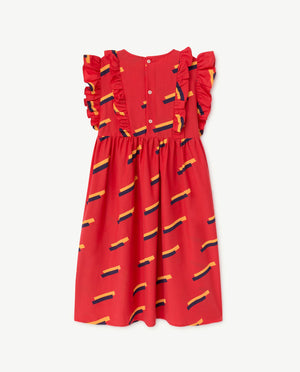 Selectshop FRAME - THE ANIMAL OBSERVATORY Otter Dress Red 80's Kids Dubai