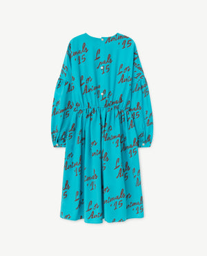 Tortoise Dress Blue Los Animals