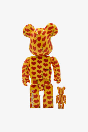 "Selectshop FRAME - MEDICOM TOY Japan X Hide ""Yellow Heart"" Be@rbrick 400%+100% Toys Dubai"