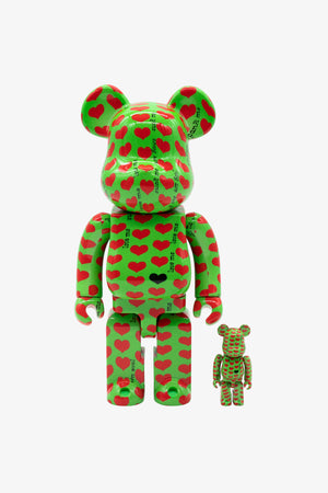 "Selectshop FRAME - MEDICOM TOY Japan X Hide ""Green Heart"" Be@rbrick 400%+100% Toys Dubai"