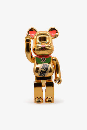 Beckoning Cat Gold Plated Be@rbrick 1000%
