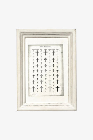 Selectshop FRAME - PUEBCO Wooden White Frame - Narrow Small Home Dubai