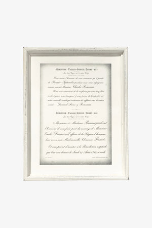 Wooden White Frame - Depth Large