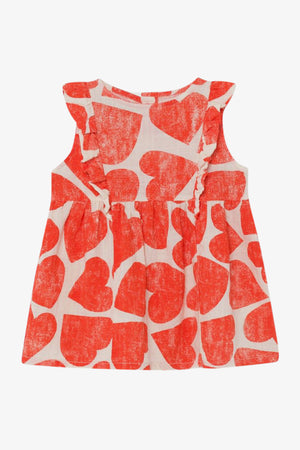 Selectshop FRAME - BOBO CHOSES All Over Hearts Ruffle Dress Kids Dubai