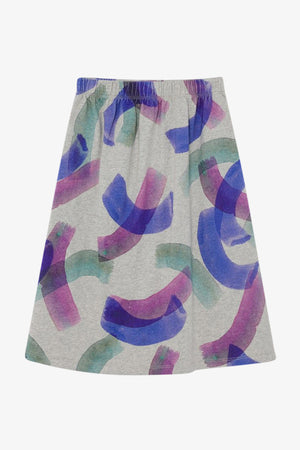 All Over Painted Jersey Skirt